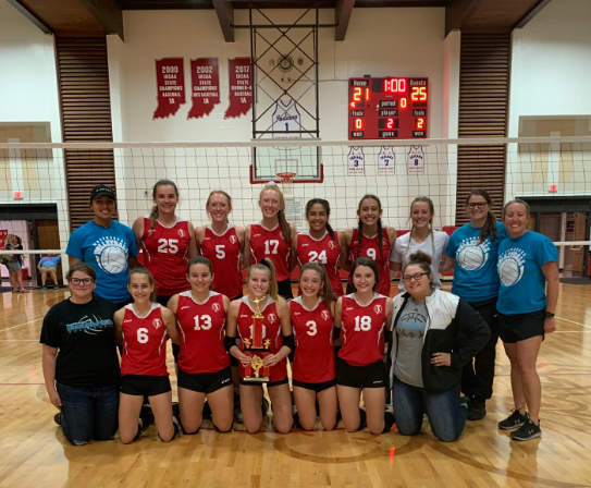 Volleyball team wins Rossville Tournament.