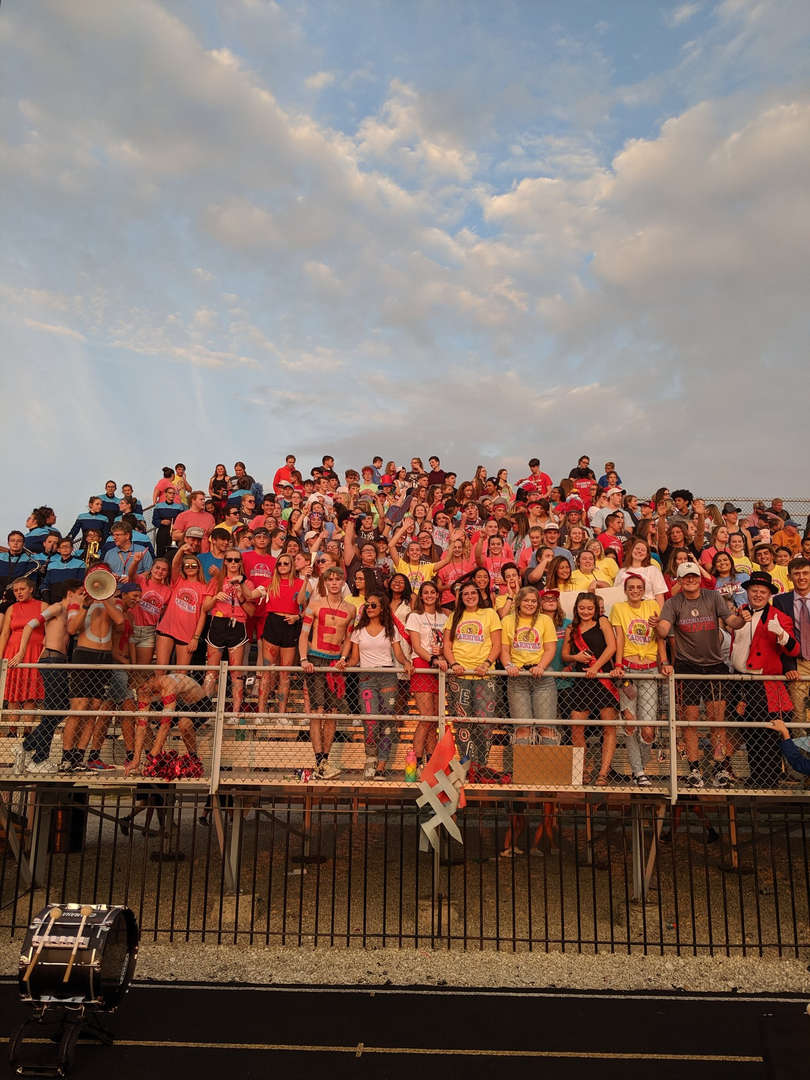 Student Section during a football game.