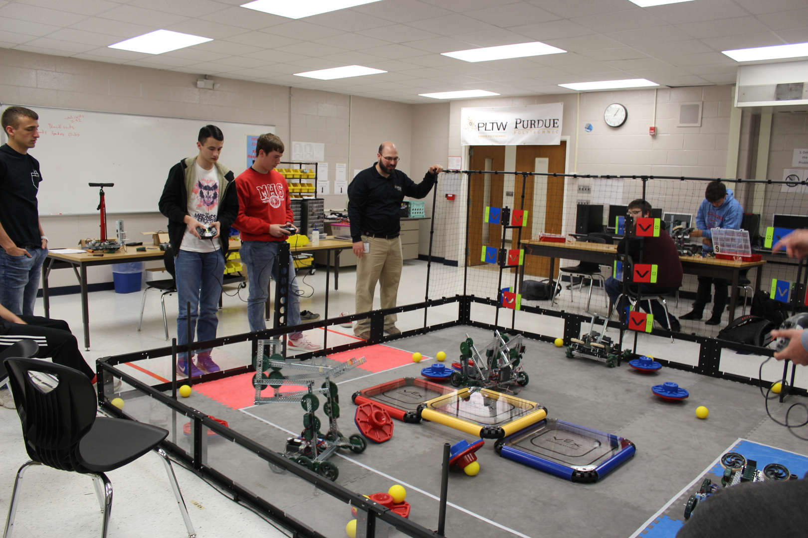 Students showing their abilities in engineering.