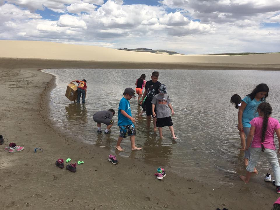 Summer STEM students exploring the Sand Dunes