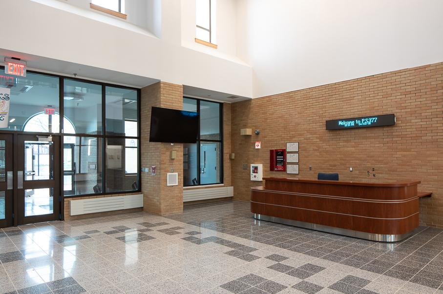 The school lobby