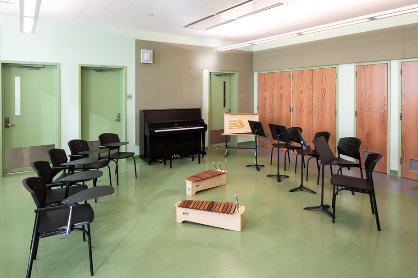 The school music room