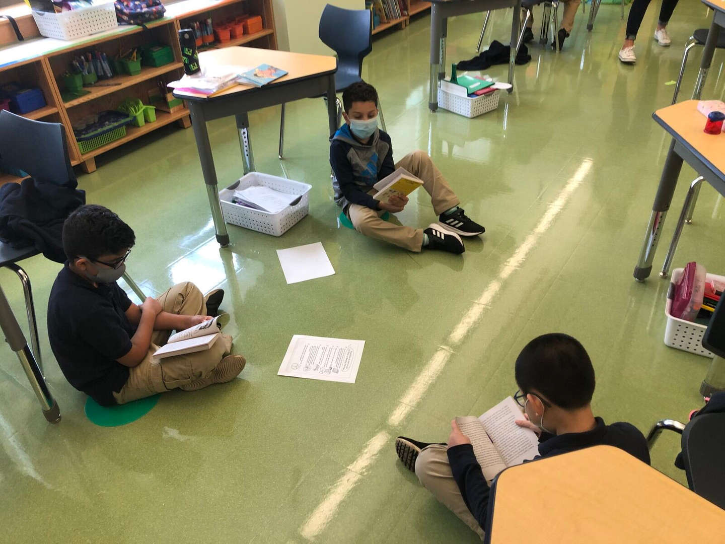 students working together in a group