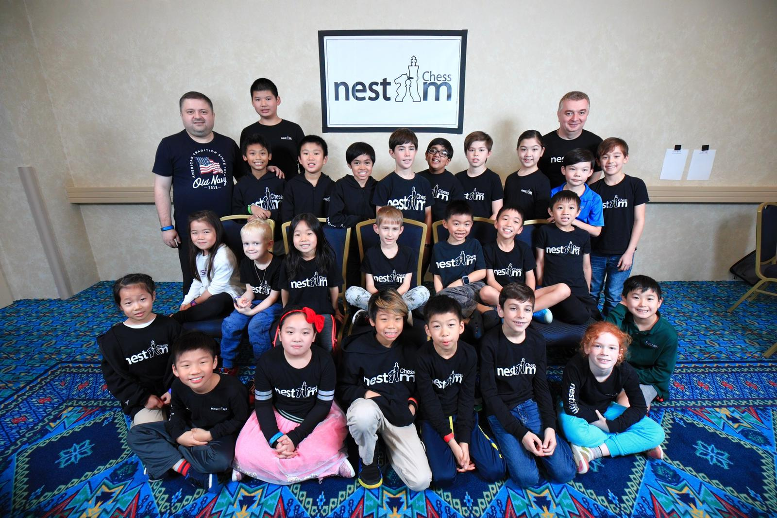 The chess team at the national tournament