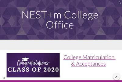 NEST+m College Office Website