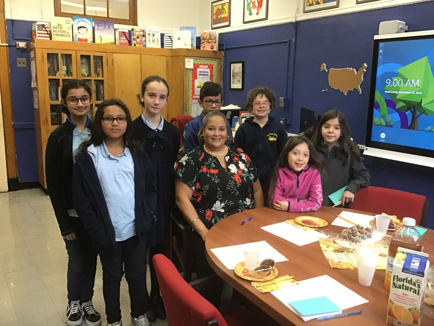 Breakfast meeting with Ms. Hernandez-Principal