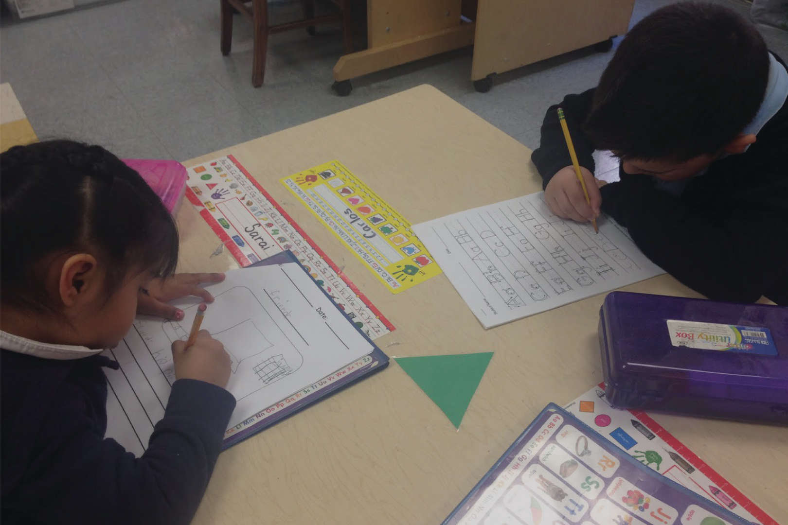 Students working on an assignment