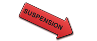 """Red downward pointing arrow labeled """"suspension"""""""