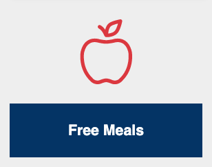 Free meals logo, red apple