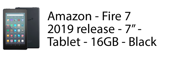 "Amazon Fire 7"" Tablet 16GB Black"