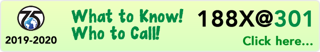 188X@301: What to Know! Who to Call! banner