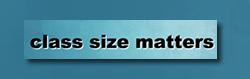 Class Size Matters lettermark