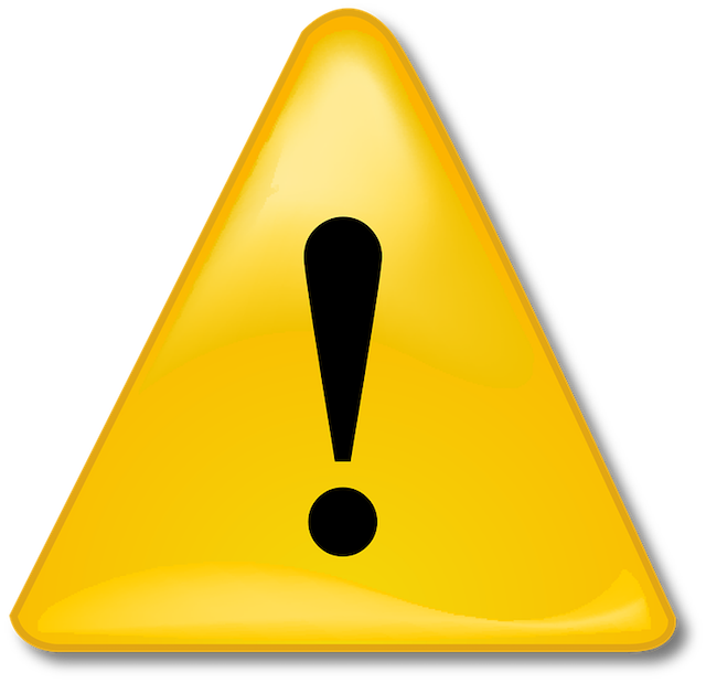 Alert yellow triangle