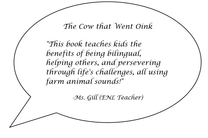Speech bubble with a quote from a teacher named Ms. Gill