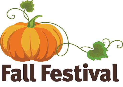 orange pumpkin that says fall festival