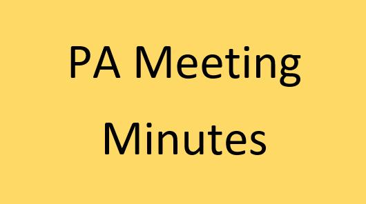 PA Meeting Minutes