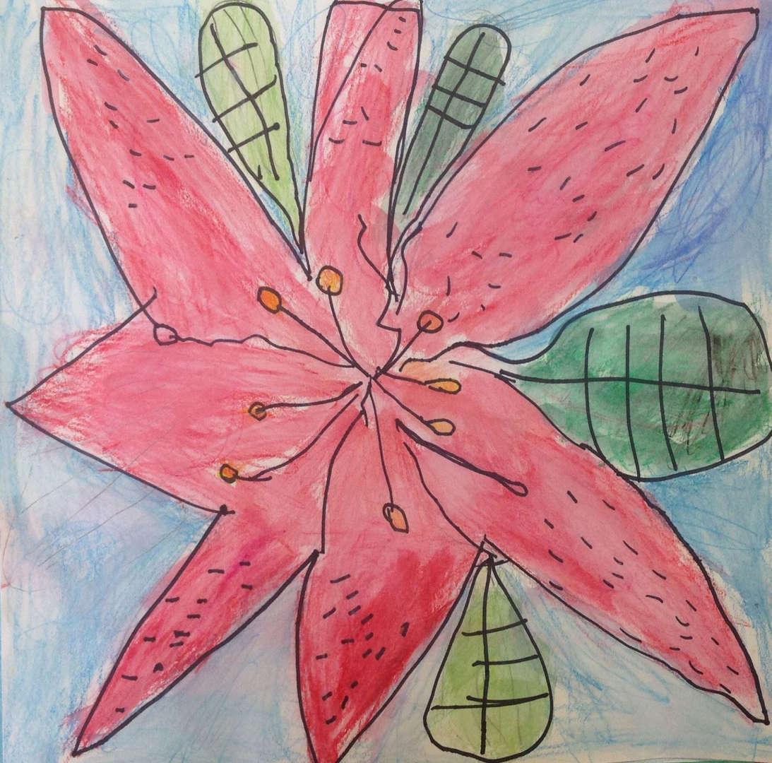 Geometric art flower