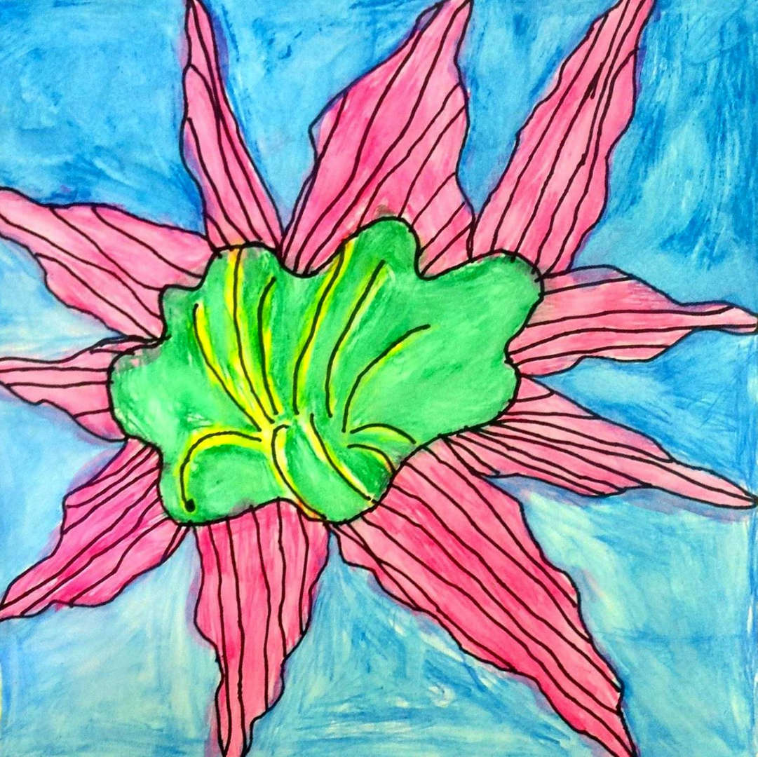 Flower in a jar drawing