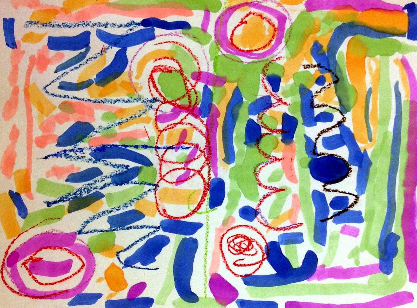 Geometric artwork colorful