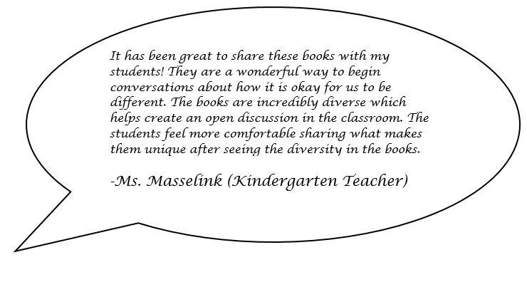 Speech bubble quote from a teacher
