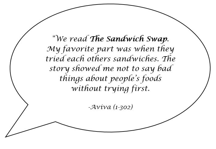 Speech bubble with quote from a student named aviva