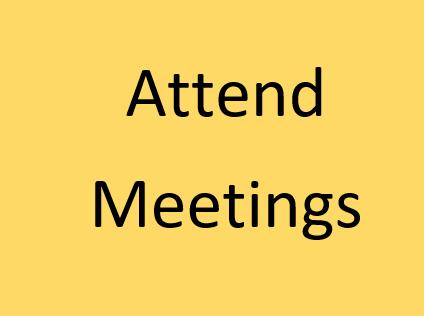 Attend Meetings