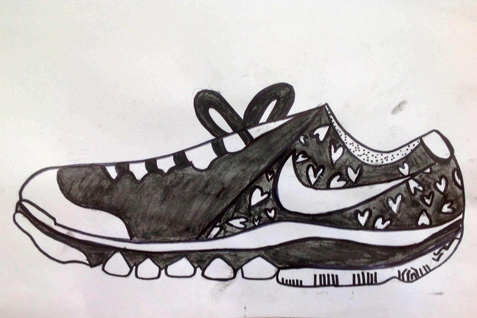 Drawing of Nikes