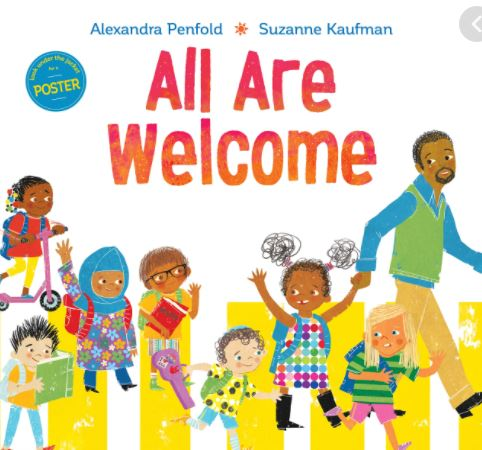 book cover with different people feeling welcome