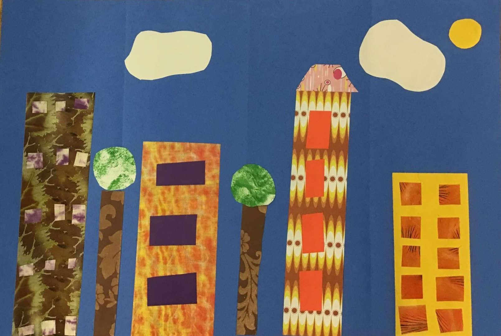 Building city scape collage