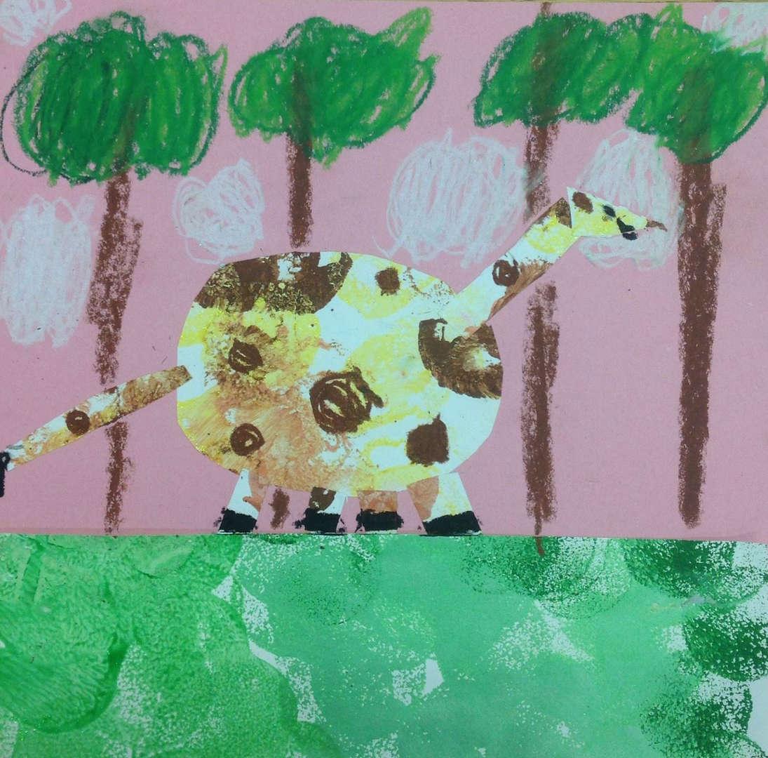 Student collage giraffe