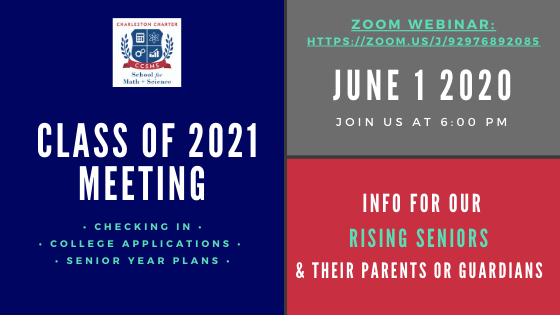 Class of 2021 Meeting June 1st