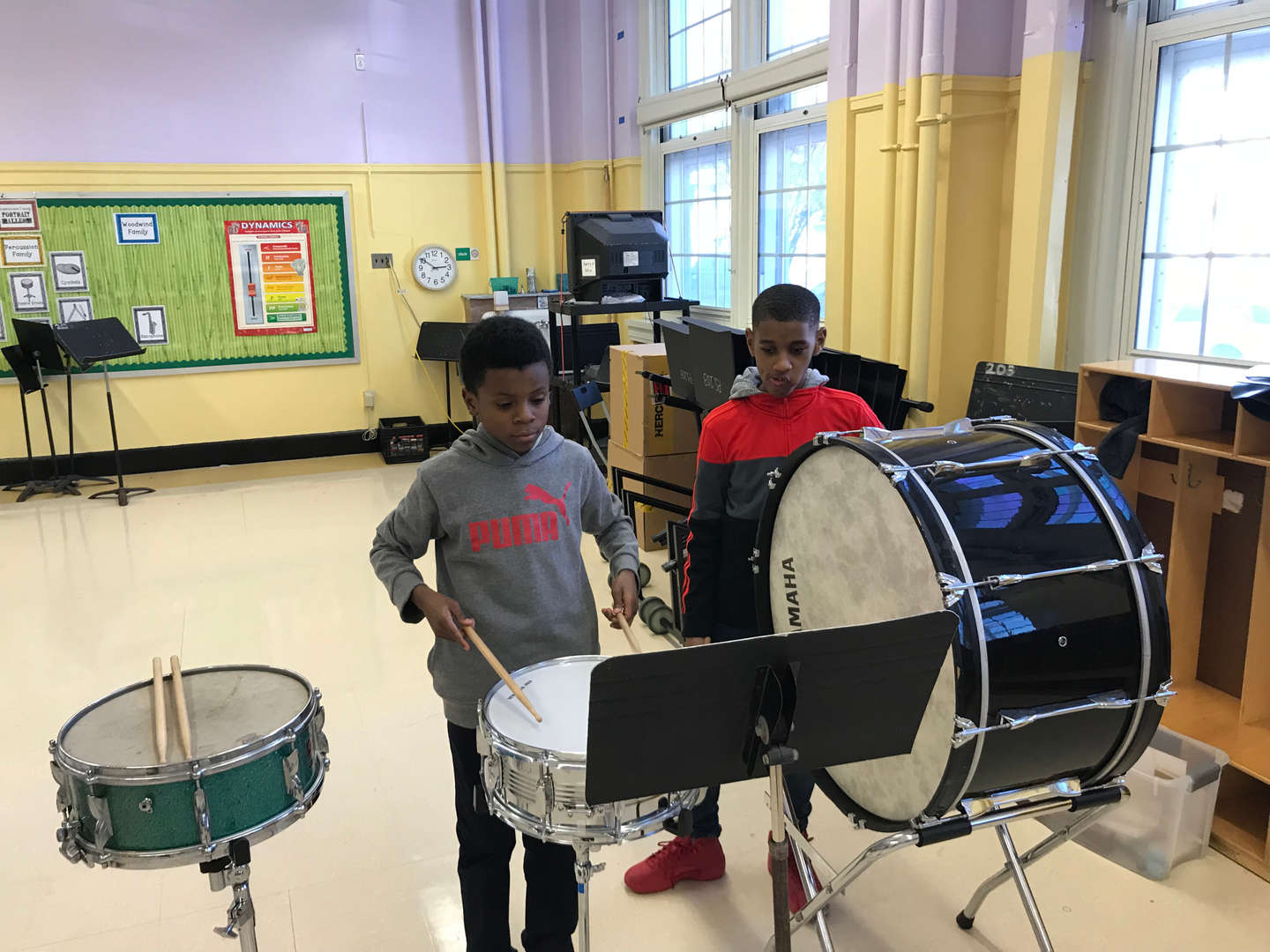 Band class at P.S. 203K
