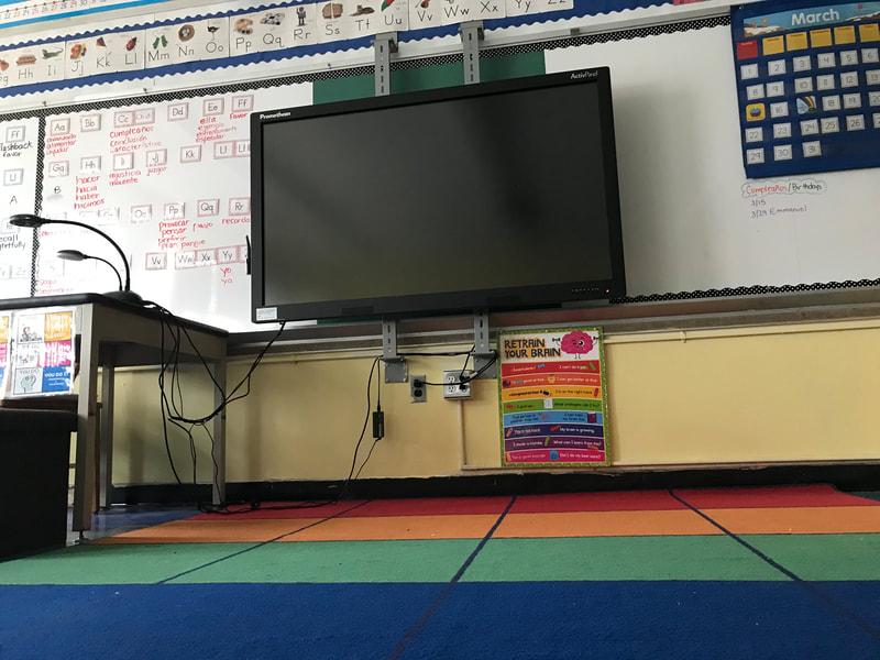 TV in classroom