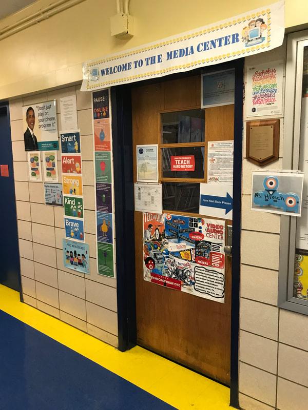 Signs outside classroom door