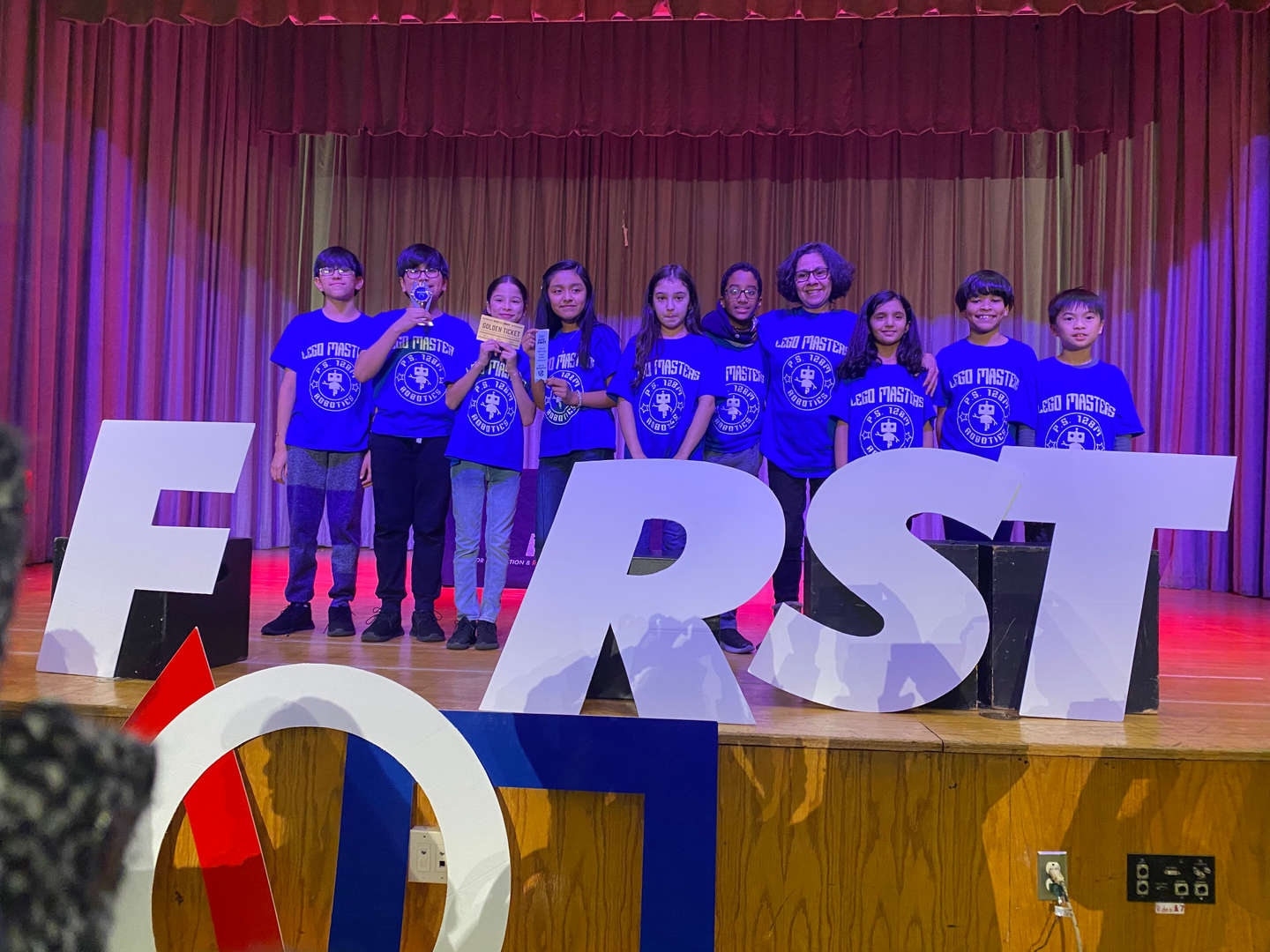 Robotics Team Winning at LEGO First Competition