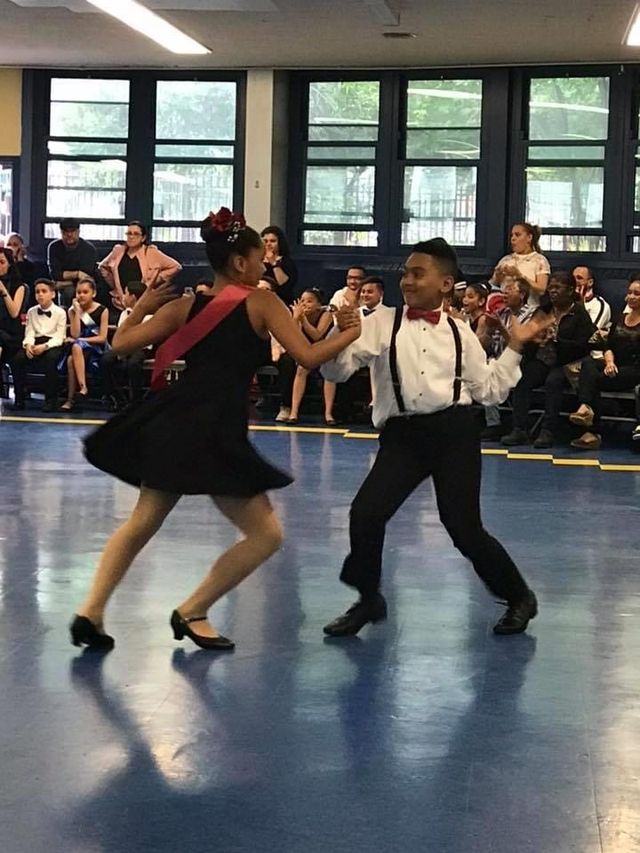 Students dancing together