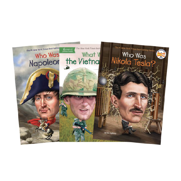 Who Was? Book Series covers (including Nikola Tesla)