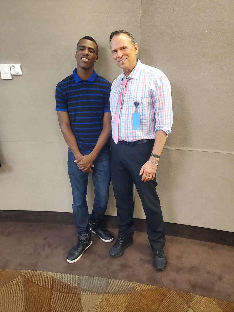 Jim Kernochan with student