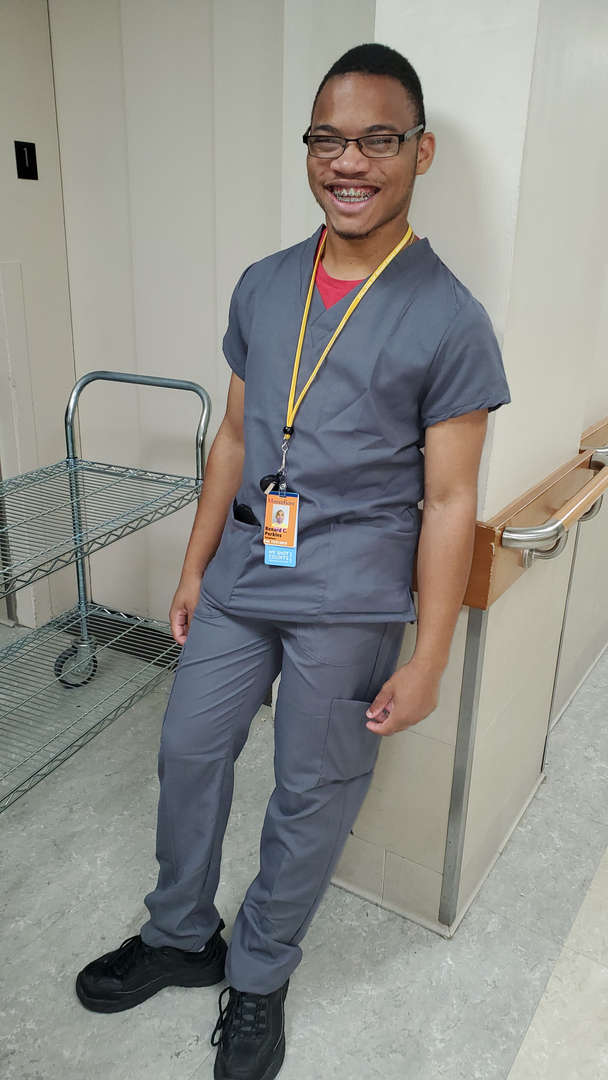 Student smiling and participating in the Montefiore Medical Center program