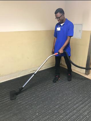 Vacuuming at Providence