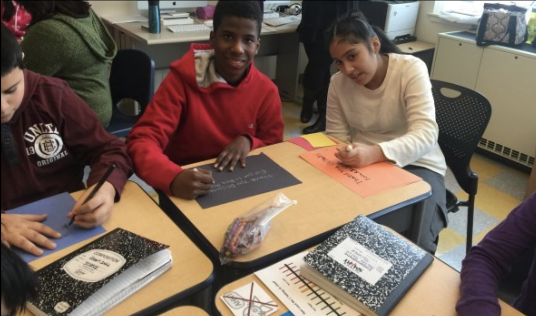 Students working together in the classroom