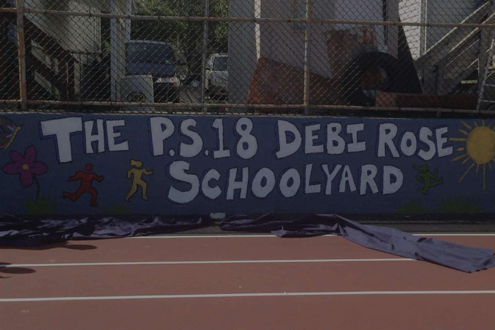 Schoolyard banner