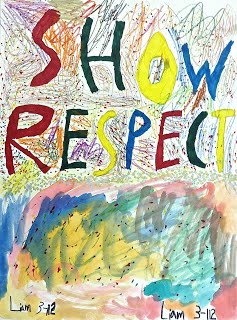 Respect for All artwork by Liam, Grade 3