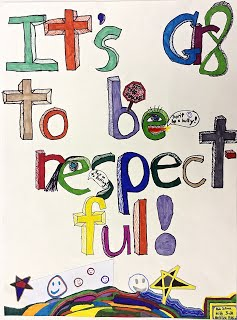 Respect for All artwork by Dasha and Natasha, Grade 3