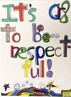 Respect for All artwork by Dasha and Natasha, Grade 3