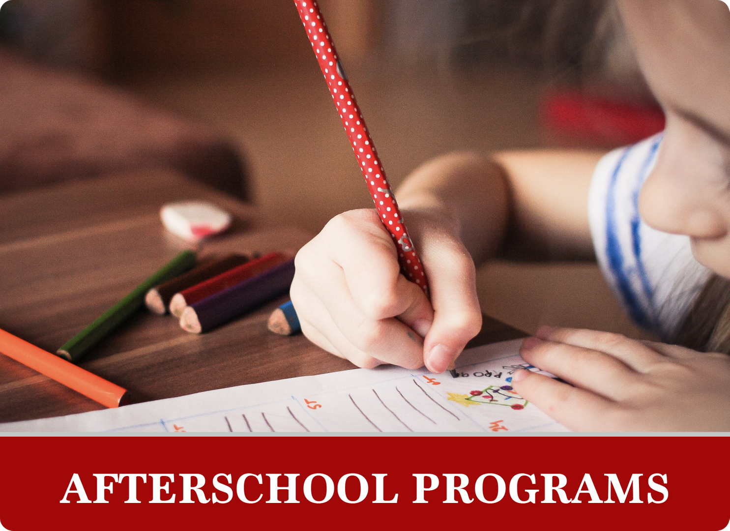 Afterschool programs: girl coloring