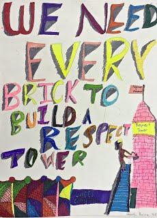 Respect for All artwork by Gabriella, Grade 4