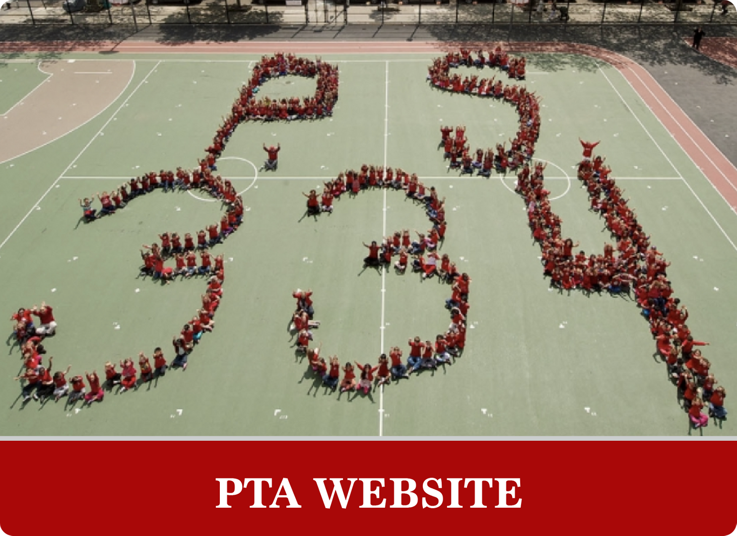 PTA Website: Students spelling out P.S. 334 on the field