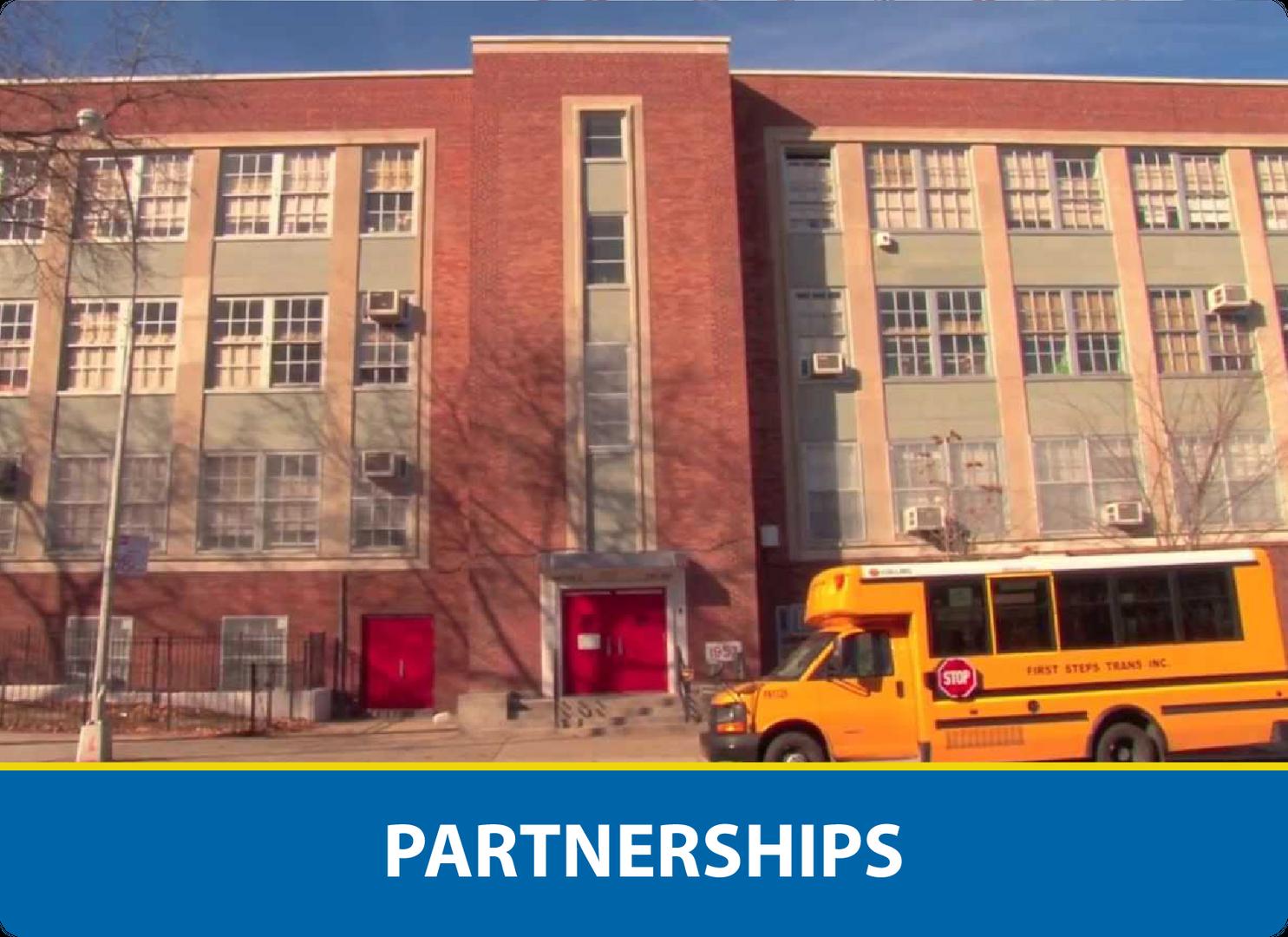 Partnerships: The Bronxwood School facade