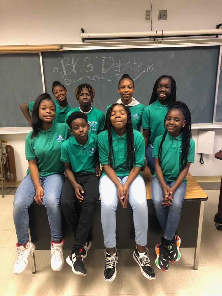 Students in the debate team